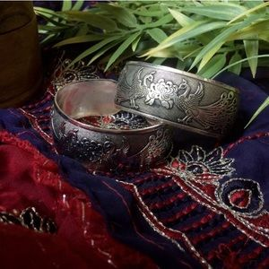 Jewelry - Peacock Tibetan silver cuff bracelet