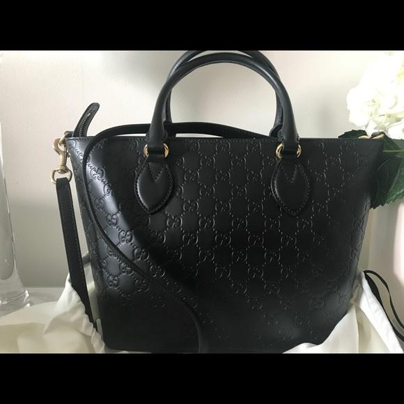 7858f0748 Gucci Bags | Ssima Small Leather Tote Bag | Poshmark