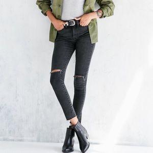 BDG Crop High Rise Twig Jeans Washed Black