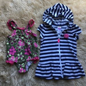 Other - Toddler Swimsuit and Coverup Bundle