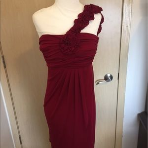 One shoulder Flowy Dress