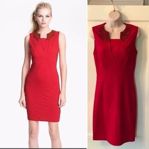 {Ted Baker} beautiful Edella red party dress