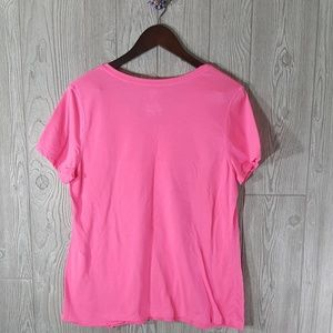 Athletic works free w purch 25 xl good karma hot pink for Hot pink running shirt