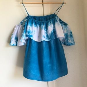Tops - Tie dye Open shoulder top