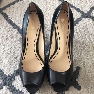 Shoes - Black Enzo Angiolini peep toe pumps