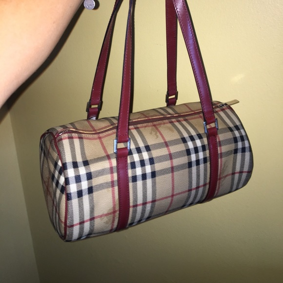 a6d5d07716f Burberry Bags | Authentic Haymarket Papillon Barrel Bag | Poshmark