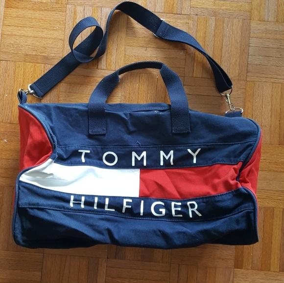 c867c82cef 90s Tommy Hilfiger duffle gym bag. M_598f5f7236d59440a30d786c