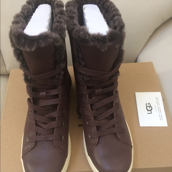 291bd393748 Croft Luxe Genuine Shearling High Top Sneaker NWT