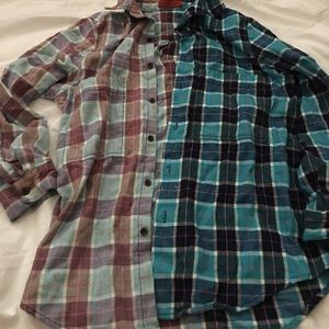 Two Tone Flannel Shirt