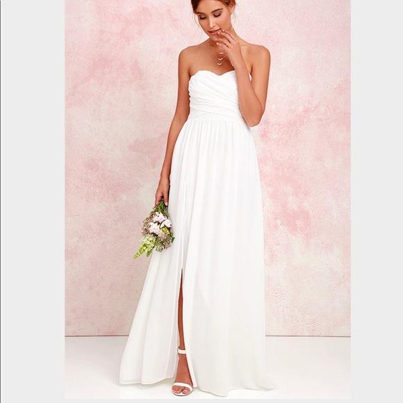 5d054baaae Lulu s Dresses   Skirts - Lulu s moonlight strapless engagement ...