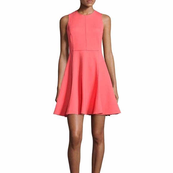 076379f64ed Halston Heritage Coral Flare Dress