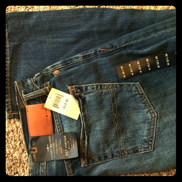 048273f1 Lucky Brand Jeans   2 Pair Mens Lucky 367 Vintage Boot 33x36   Poshmark
