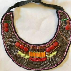 Jewelry - Gorgeous colorful, beaded bib statement necklace