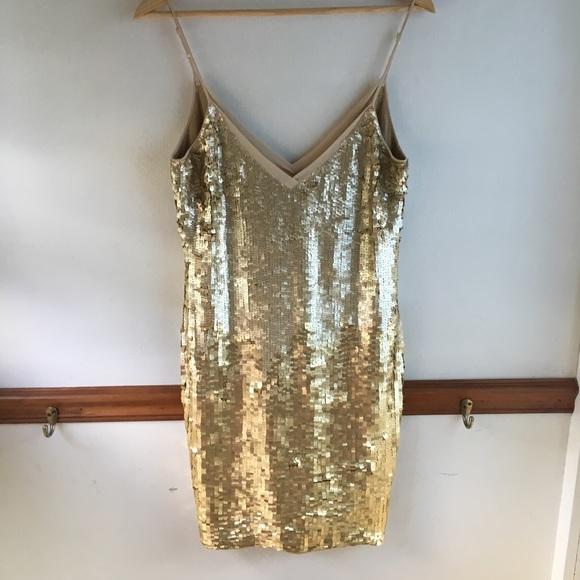397f5913 Karen Millen Dresses | Chicago Sequin Dress Gold Size 8 | Poshmark