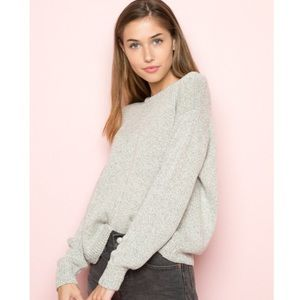 Brandy Melville Speckled gray cari sweater
