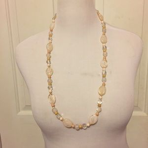 Vintage Pastel Glass Stone Beaded Necklace