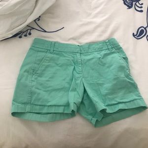 J. Crew Chino shorts bright green