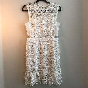 Romeo & Juliet Couture White Lace Dress