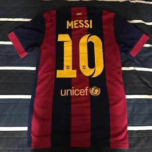 Fc Barcelona 2014/15 Lionel Messi Home Jersey