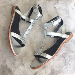 NEW Rebecca Minkoff Sandy silver studded sandals