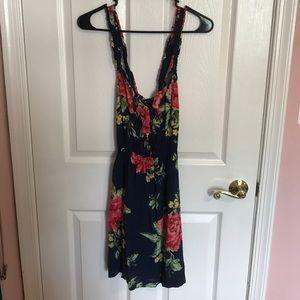 Floral X Back Dress