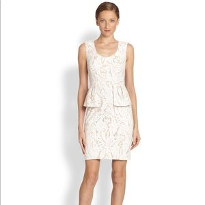 BCBG MAX AZRIA Etna Lace Peplum Cocktail Dress