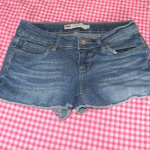 Levi's Shorty Short Med Blue Jean Shorts