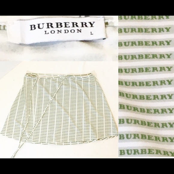 1dcb851c9a07 Burberry Other - Burberry London White & Green Swim Cover Up Skirt