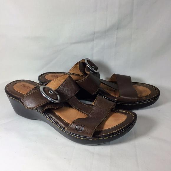 077a4da2f7 Born Shoes | Boc Concept Low Heel Sandals Slip On Brown | Poshmark