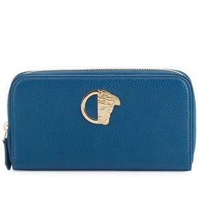 Versace Collection zip around leather wallet NWOT