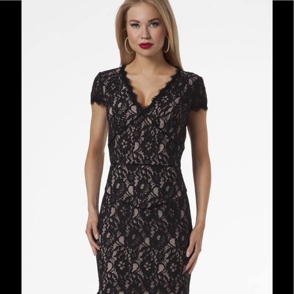 Nue by Shani Dresses   Nue By Shani Black And Nude Lace