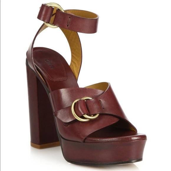 aba6eb5bbb6 Chloe Shoes - Chloe Kingsley Platform Leather Sandals