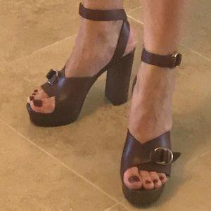 1532f5e0e29 Chloe Shoes - Chloe Kingsley Platform Leather Sandals
