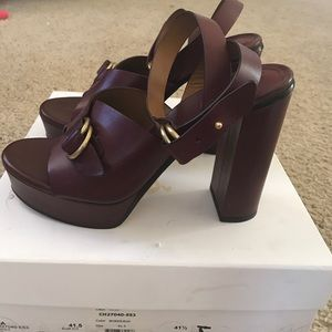 4e47633d951 Chloe Shoes - Chloe Kingsley Platform Leather Sandals