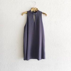 Everly Keyhole Gray Dress