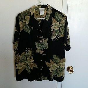 Vintage 100% silk Coldwater Creek blouse size M
