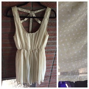 NWT Cream Chiffon Mini Dress