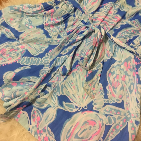 Lilly Pulitzer Pants - • Lily Pulitzer Deanna romper BAY BLUE size XL •