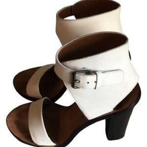 Vince white block heels