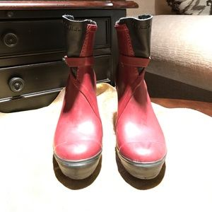 Sorel High Heel Ankle Rain Boots