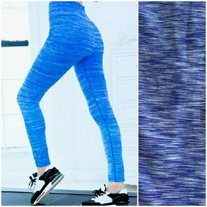 Patterned Blue-N-White Leggings