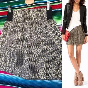 Aqua Metallic Dot Mini Skirt