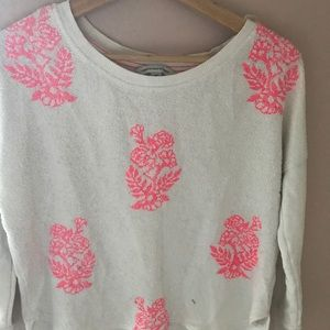 Long sleeve embroidered sweater