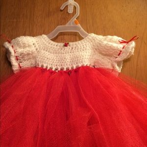 Other - Crochet and tulle newborn dress