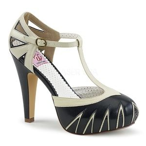 Shoes - Pin Up Shoes T-Strap High Heels 50s Vintage Girl