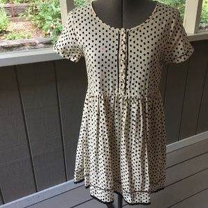 LAST CHANCE 90's Style Polka-Dotted Babydoll Dress