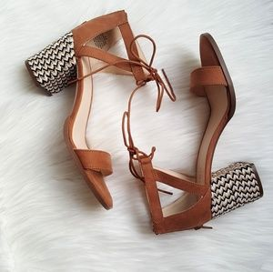 New Nine West Suede Woven Sandals!