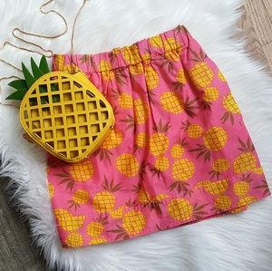 NWT J. Crew Pineapple Pink Skirt!