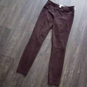 Max Studio Brown Elastic Pants - size Medium