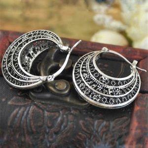 Jewelry - Tibetan silver boho earrings